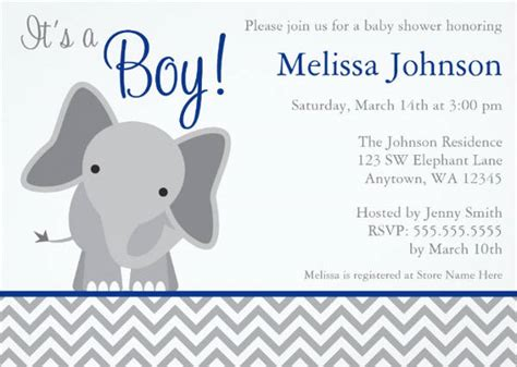 baby shower elephant template 11 baby shower invitation templates
