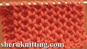Knitting Stitch Patterns Tutorial 4 Honeycomb Knitting