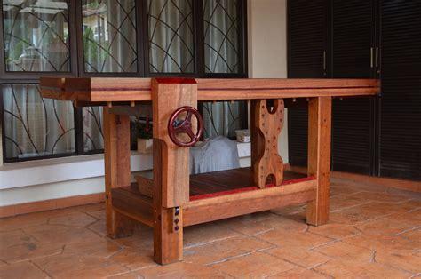 sams tropical wood roubo workbench  wood whisperer