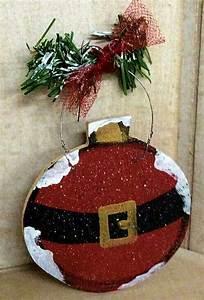 Christmas craft Santa ornament wood craft - Craft Wood Shack
