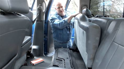 dodge ram crew cab rear seat stuck    fix  youtube