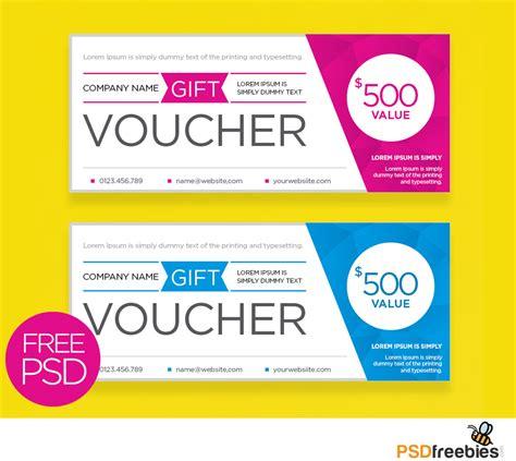 clean  modern gift voucher template psd psdfreebiescom