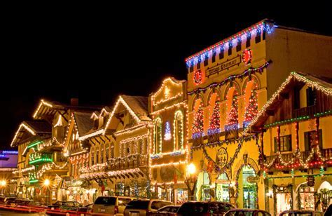Christmas Lighting Festival Leavenworth Washington USA.