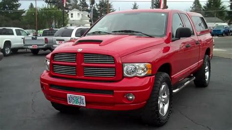 dodge ram  pickup quad cab short bed   liter