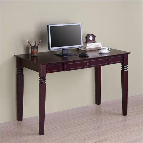 solid wood writing desk walker edison elegant solid wood writing walnut brown