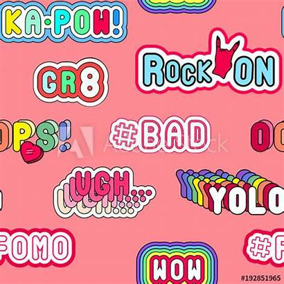 Slang Clipart Words Phrases Bad 90s Yolo