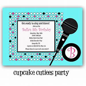 Karaoke birthday invite wording newsinvitation invitation wording for karaoke party image collections stopboris
