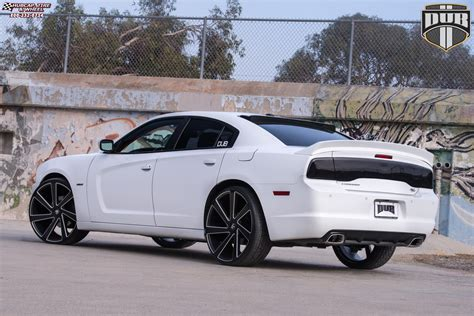 dodge charger dub directa  wheels black milled