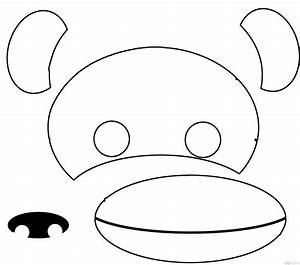 monkey template for kids wwwimgkidcom the image kid With sock monkey face template
