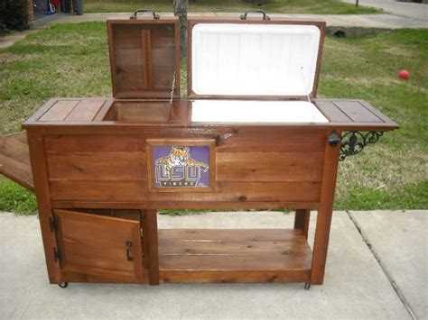 wooden ice chests  stands wooden ice chest cooler plans  amanda wood