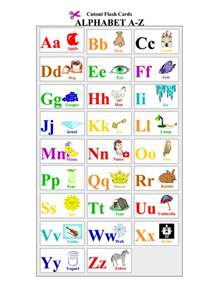 8 best images of printable alphabet letter cards