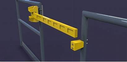 Gate Safety Bar Single 3d Cgtrader Industrial