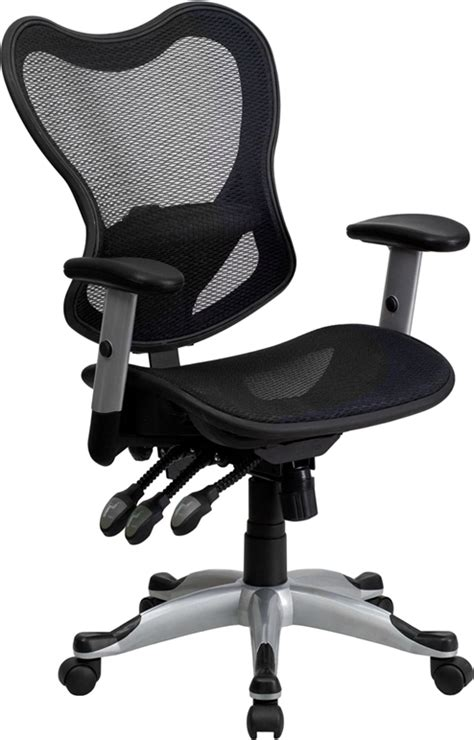 flash furniture mid back black mesh executive swivel
