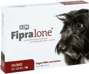 zoo gmbh fipralone fuer mittlere hunde mg  stueck ab