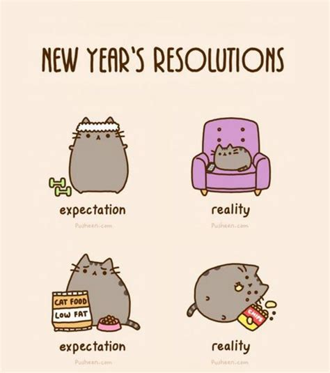 Pusheen Cat Meme - we this original pin caption new years resolutions from