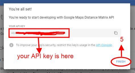 find distance addresses google api php