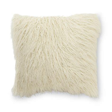 faux fur decorative pillows essential home mongolian faux fur square decorative pillow