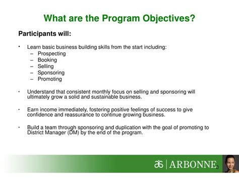 Ppt  Arbonne Strong Start Program Vp Webinar Powerpoint