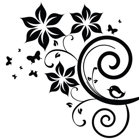 sticker fleurs papillons et oiseau stickers nature ambiance sticker