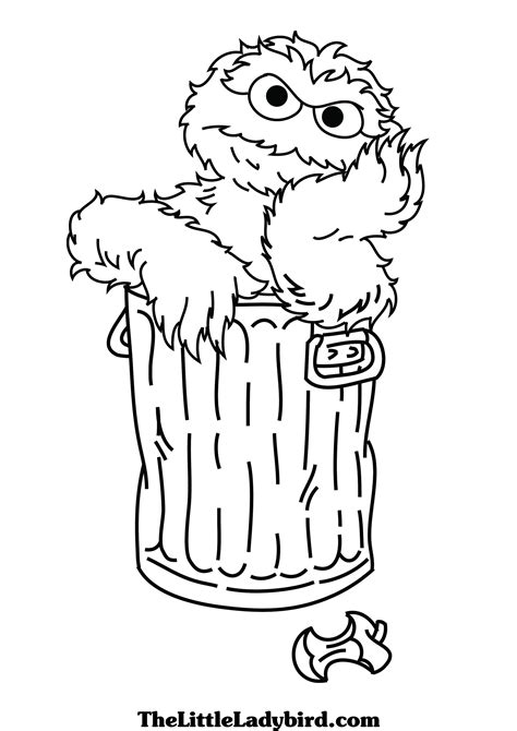 Oscar Sesame Street Coloring Pages