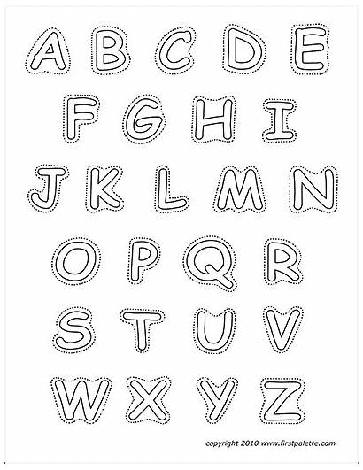 Alphabet Printable Upper Case Letters Firstpalette Templates