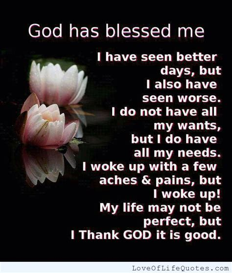 Blessed Have You My Life Quotes