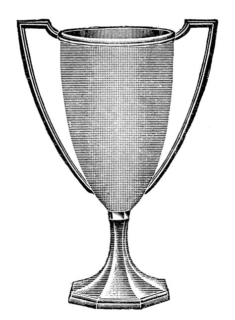 Vintage Clip Art Trophy Loving Cup The Graphics Fairy