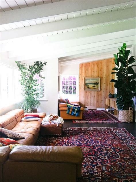 rugs for living room our favorite bohemian rooms for inspiration