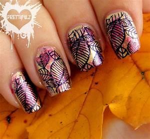 prettyfulz fall nail design 2011