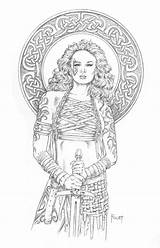 Coloring Pages Female Deviantart Mitchfoust Fighter Maren Adult Foust Mitch Fairy Colouring Warrior Ranger Fantasy Dragon Dungeons Dragons Rpg Warriors sketch template