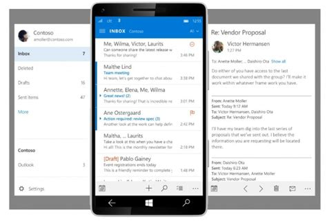 upcoming outlook mobile app  windows
