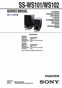 Sony Ss-ws101  Ss-ws102 Service Manual