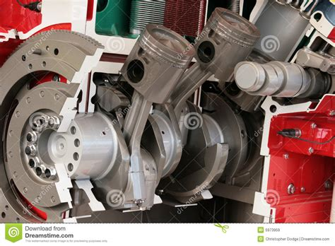 Cross Section Of Large Diesel Engine Royalty Free Stock