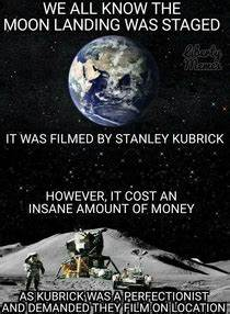 How the moon landing was staged - Meme Guy