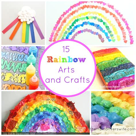 15 Rainbow Arts And Crafts  The Train Driver's Wife