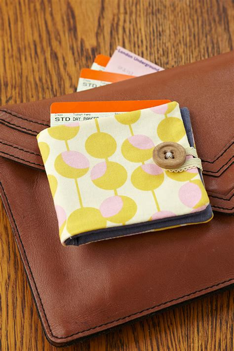 How To Make Upholstery Patterns by How To Sew A Fabric Wallet Mollie Makes