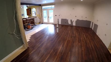 diy kitchen remodel  vinyl plank flooring youtube
