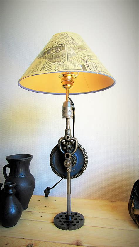 Lumimeca Recycled Steampunk Table Lamp • Id Lights