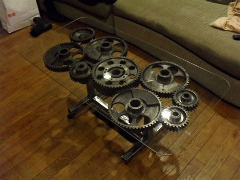 Steampunk Gear Coffee Table Interior Design Ideas In