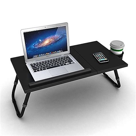 bed bath and beyond computer lap desk adjustable laptop tray in black bed bath beyond