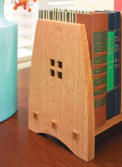 craftsman style book rack