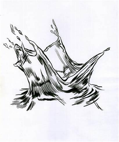 Ink Sketch Water Drawing Drawn Brush Raven