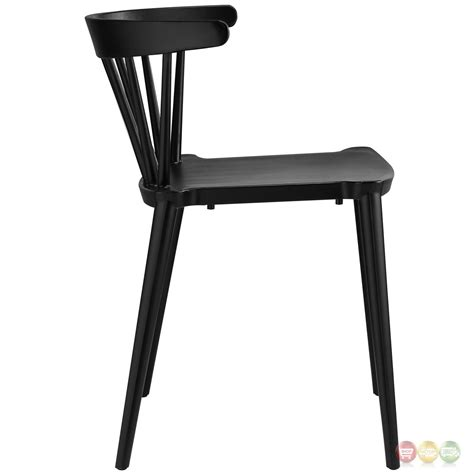 spindle contemporary low back spindle accented side chair