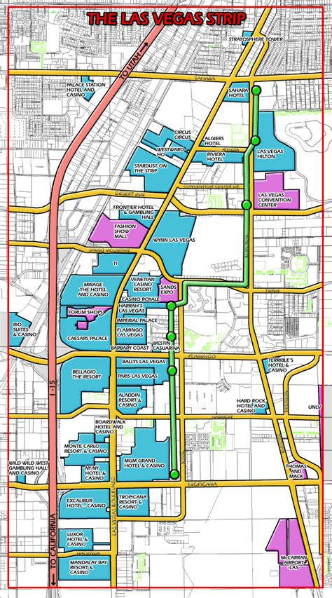 las vegas maps las vegas strip map