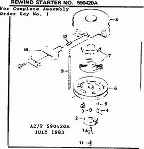 Tecumseh Recoil Starter Assembly Diagram