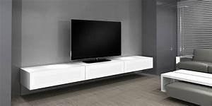 Meuble Tv Banc : norstone khalm blanc meubles tv norstone sur easylounge ~ Teatrodelosmanantiales.com Idées de Décoration