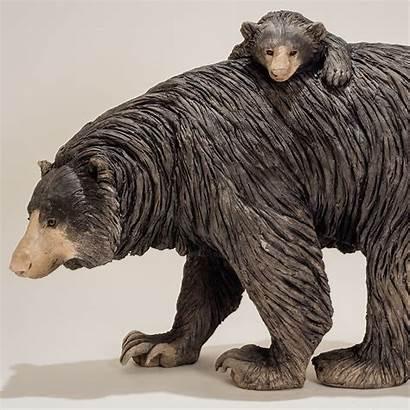 Bear Moon Sculpture 1950 Animal Nick Mackman