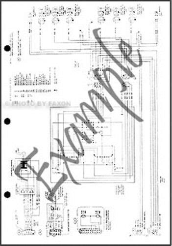 Ford Bronco Foldout Electrical Wiring Diagram Oem