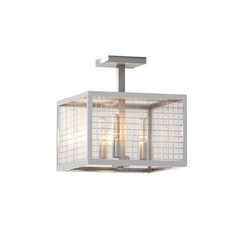 Home Decorators Collection Lighting by Home Decorators Collection 3 Light Brushed Nickel Semi