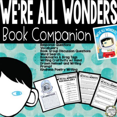 wonders  rj palacio book companion